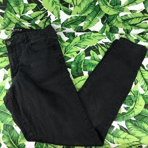 5 for $25 American Eagle Black Sateen Jegging